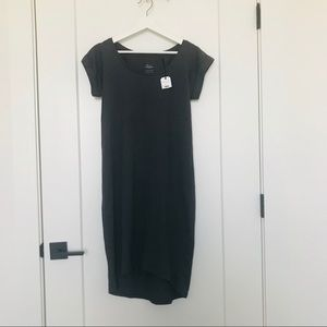 [RAVEN+LILLY] NWT charcoal t-shirt dress
